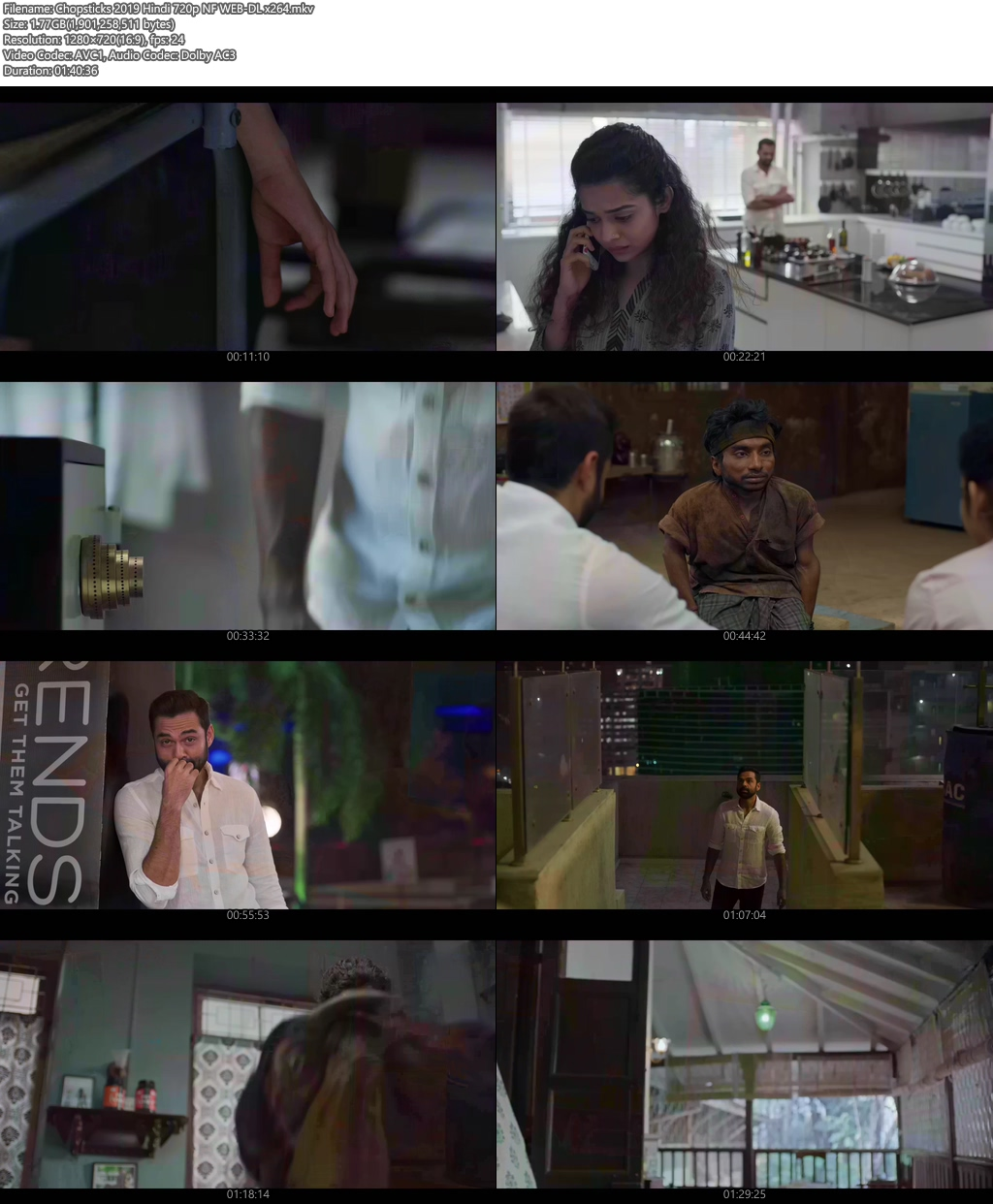 Chopsticks 2019 Hindi 720p NF WEB-DL x264 | 480p 300MB | 100MB HEVC Screenshot