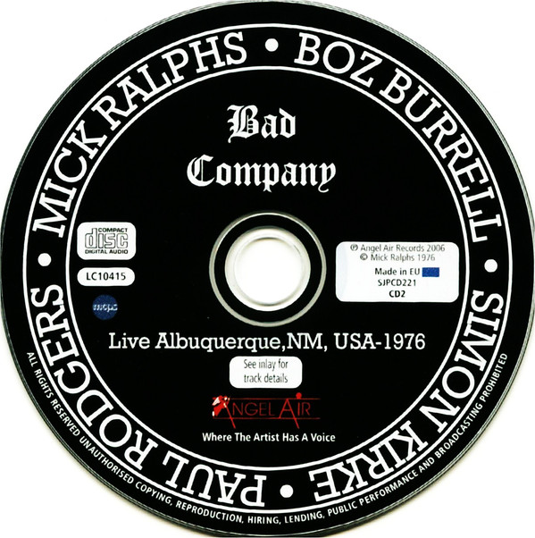 johnkatsmc5 bad company live albuquerque 1976 bootleg. Black Bedroom Furniture Sets. Home Design Ideas
