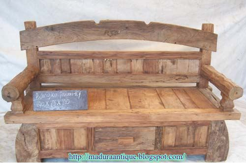 Awe Inspiring Primitive Bench Madura Antique Antique Teak Furniture Gmtry Best Dining Table And Chair Ideas Images Gmtryco
