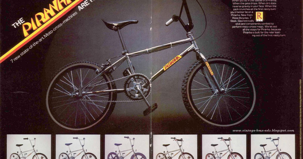 Vintage BMX Ads: The PIRANHA - 7 new state-of-the-art Moto