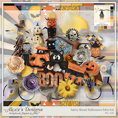 Pampered Pups Blog Train Release: Batty about Halloween Mini Kit by Alexx