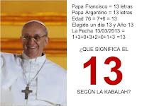 Resultado de imagen de papa francisco 13