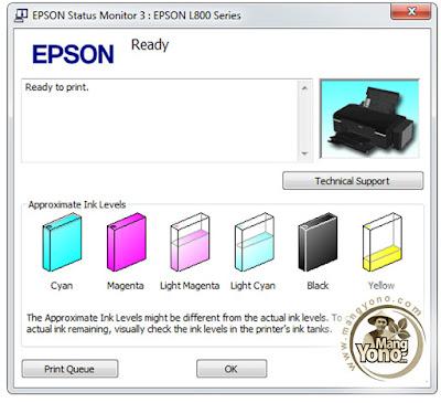 Gambar 6: Isi Ulang Tinta Printer EPSON L800