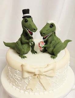 T-Rex Dinosaur Wedding Cake Topper