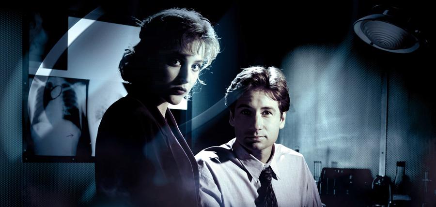 Mulder şi Scully în serialul X-Files (1993)