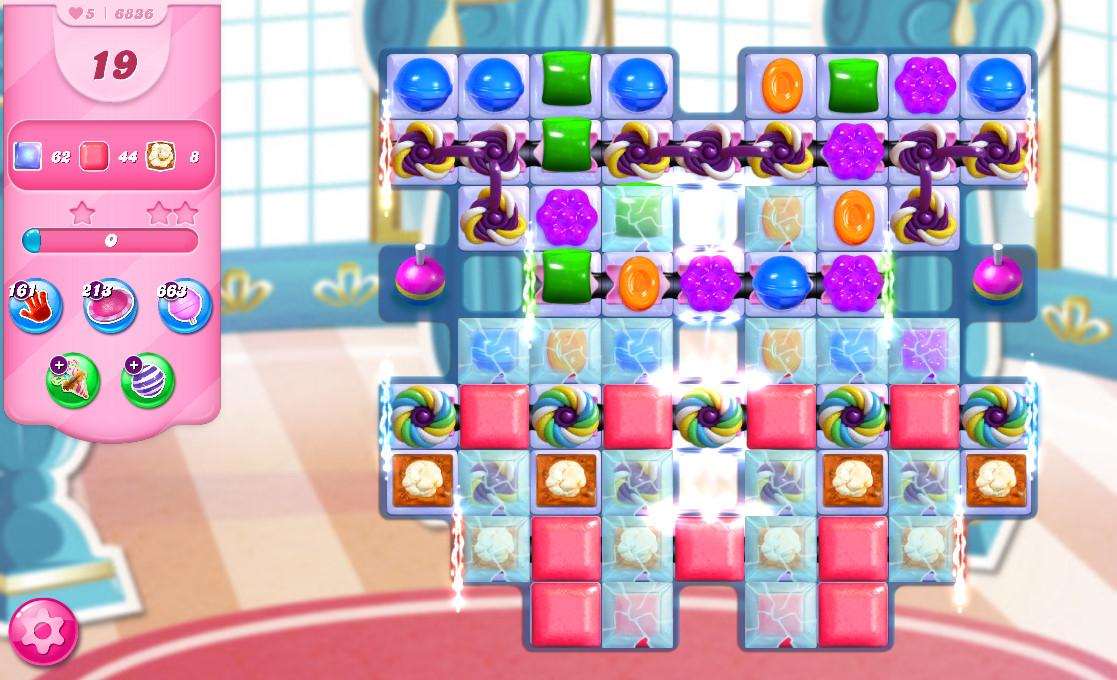 Candy Crush Saga level 6836