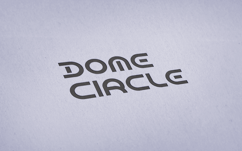 dome circle futuristic text fonts in logos