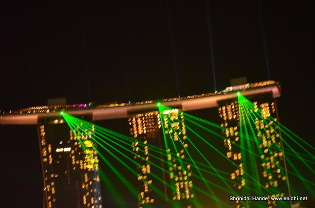 marina bay sands evening laser show wonder full enidhi india