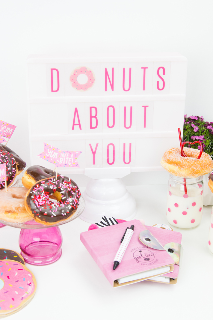 Heidi Swapp Ligthbox Donut Valentine's Day Party by @createoften