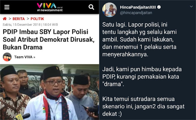 PDIP Imbau SBY Lapor Polisi Soal Atribut Dirusak, Ini Jawaban Tegas Demokrat