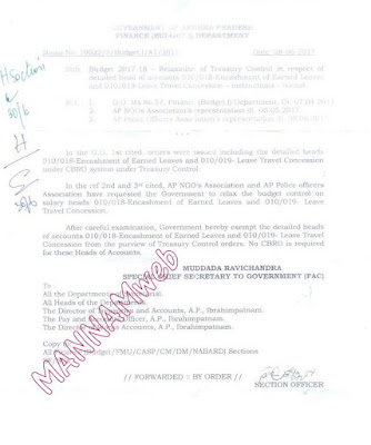 MEMO-19022,Relaxation of treasury control in encashment of