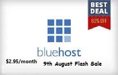 Blue host Flash sale offer