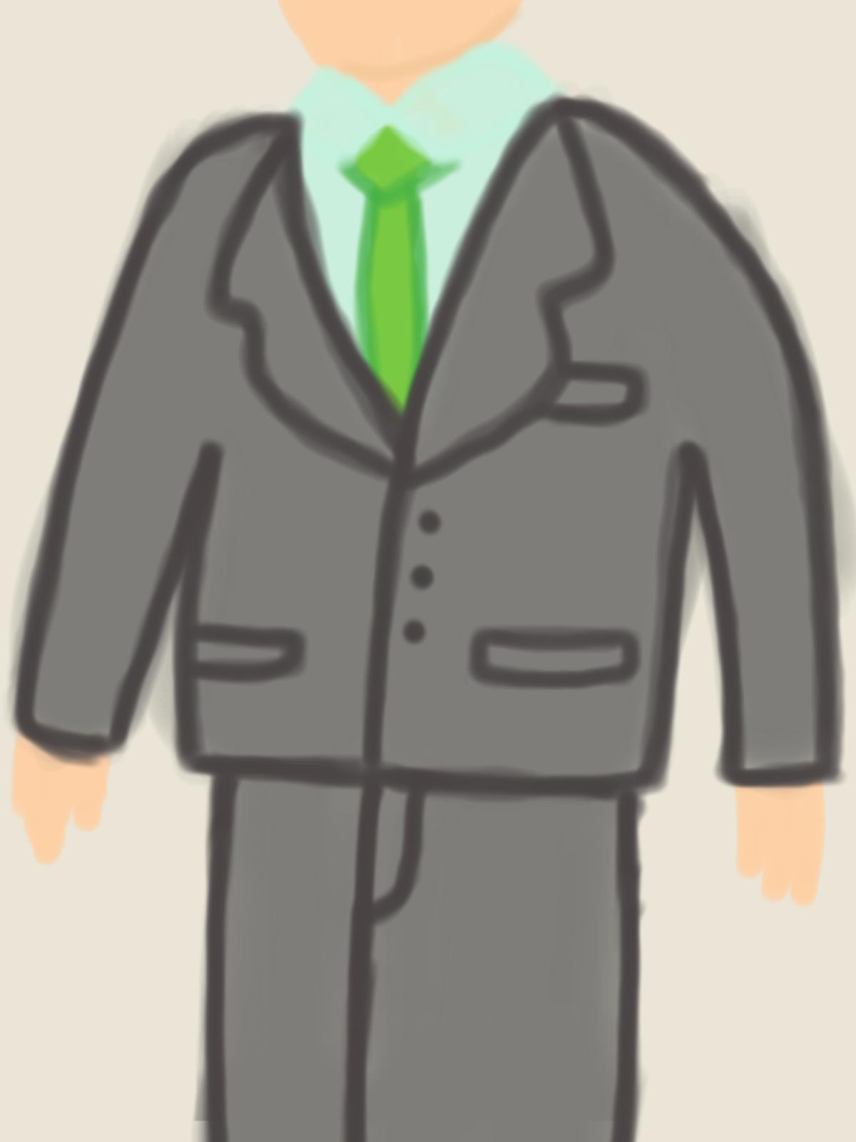 成人式のagnes b.のスーツ