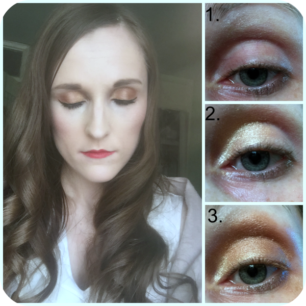 essence all about bronze eyeshadow palette eyeshadow look