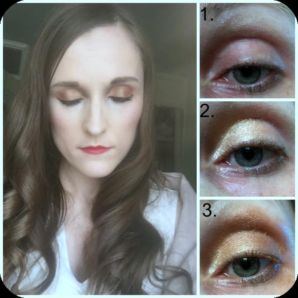 essence all about bronze eyeshadow palette eyeshadow look