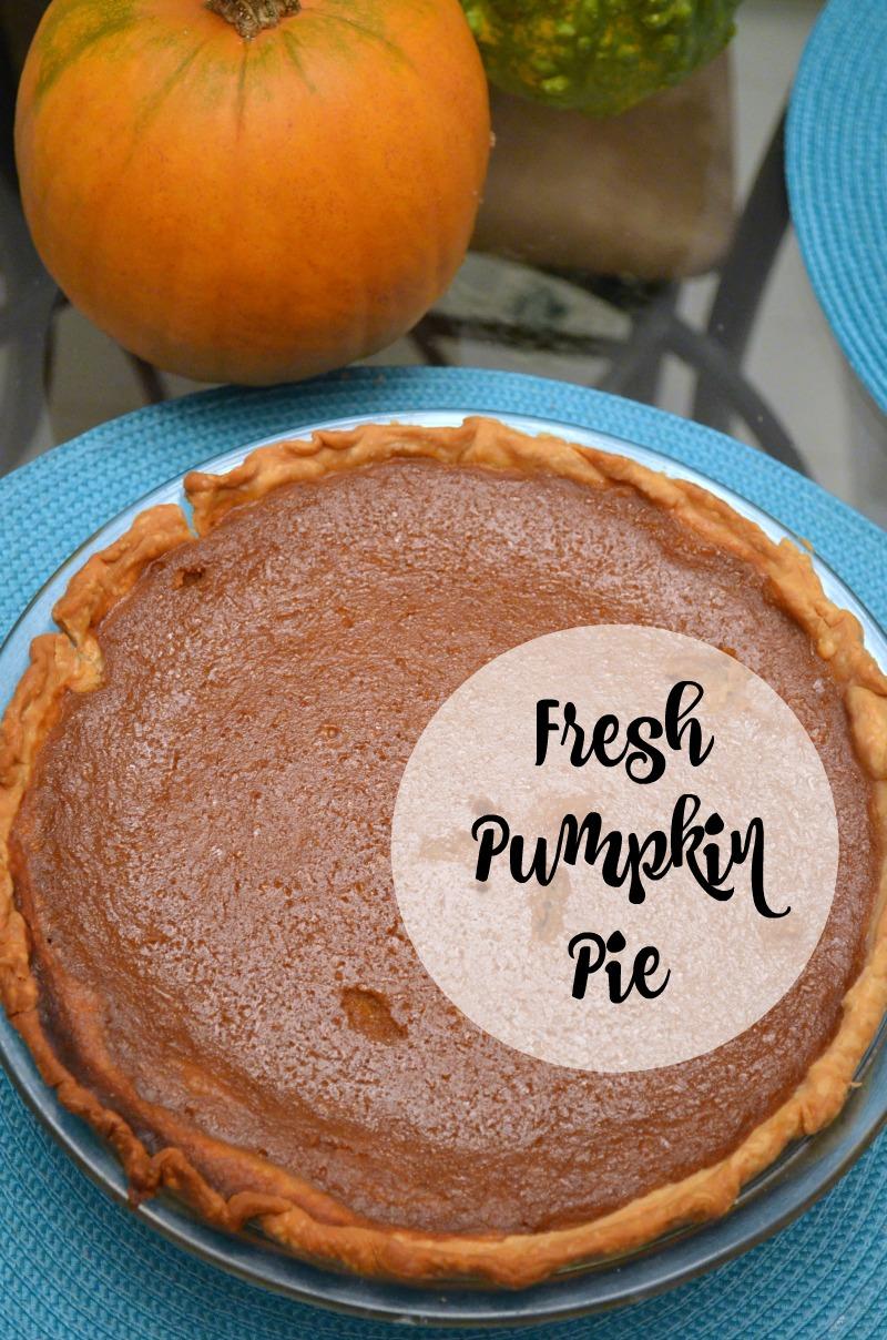 Pumpkin Pie With Fresh Pumpkin An Artful Mom