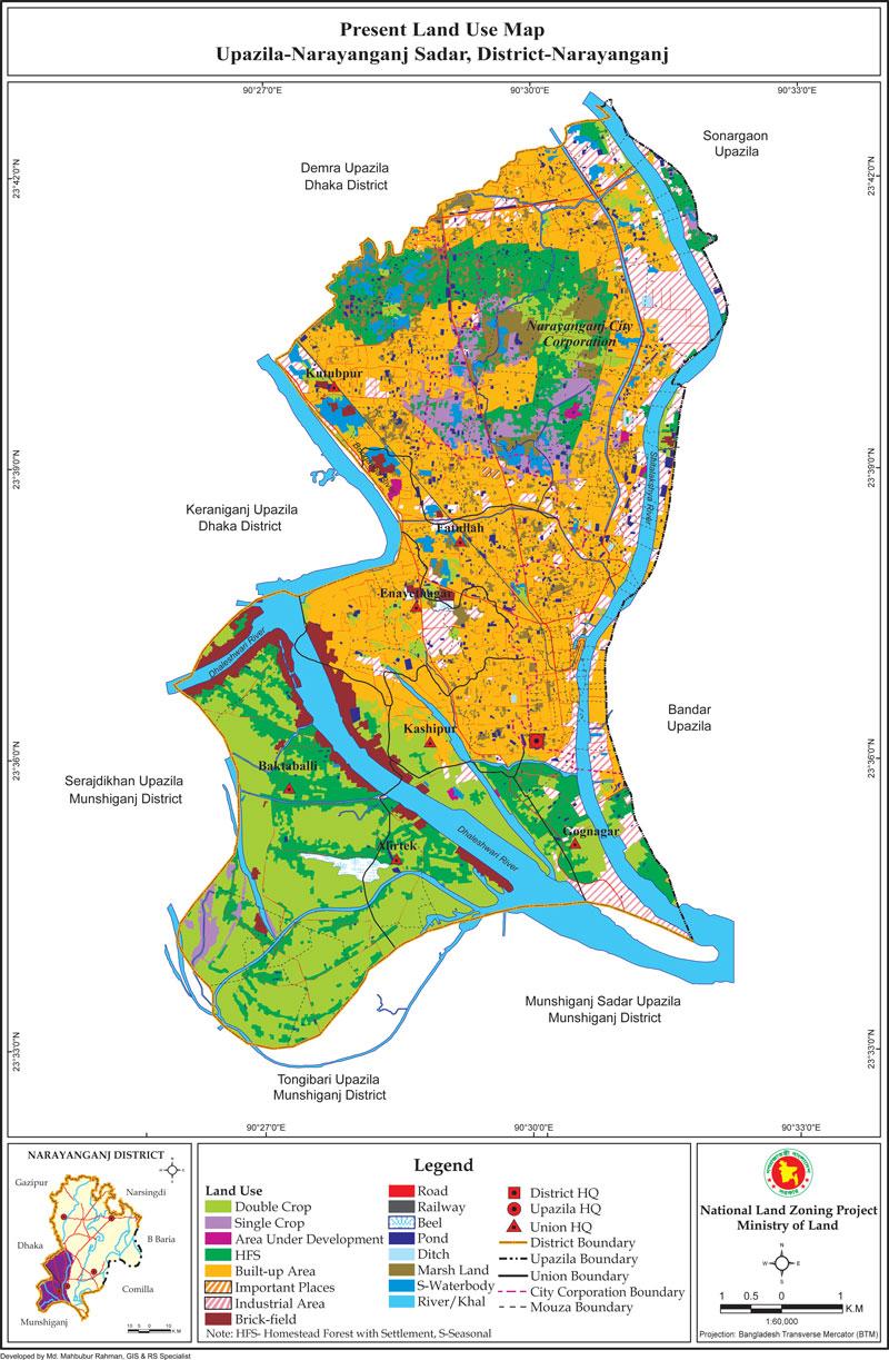 Narayanganj Sadar Upazila Mouza Map Narayanganj District Bangladesh