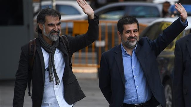 Madrid jails two Catalan leaders Jordi Sanchez and Jordi Cuixart over charges of inciting sedition