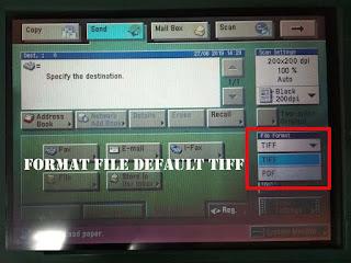 Merubah format scan menjadi PDF canon ir 4570