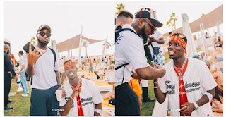 Davido and Paul Pogba have fun at Dubai