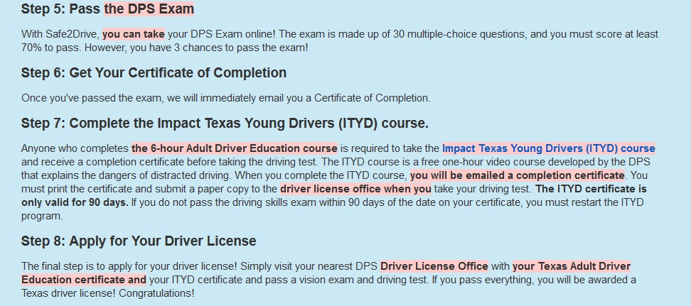 Drivers ed Texas Online : Online Texas Adult Divers