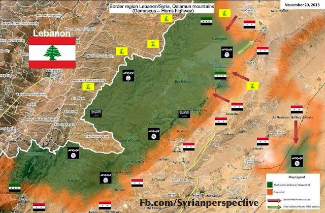The New Map of the Qalamoun offensive Depicts Qaraa as Liberated by the SAA. 1