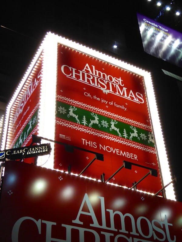 Almost Christmas film billboard NYC