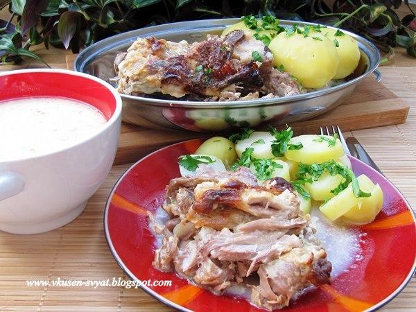 Крехко агнешко в прясно мляко на фурна / Delicate Roasted Lamb in Milk