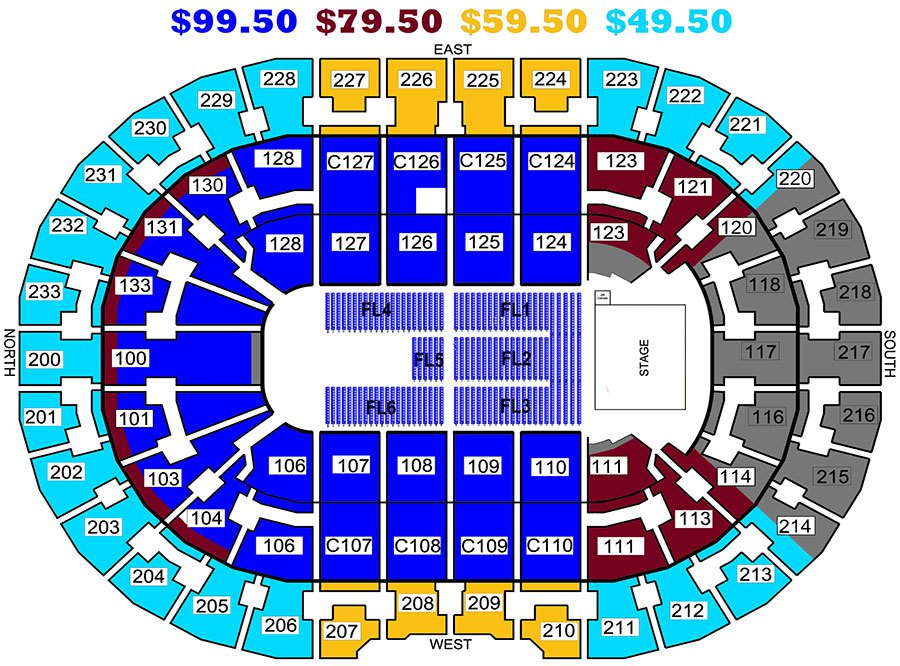 quicken loans seating chart on