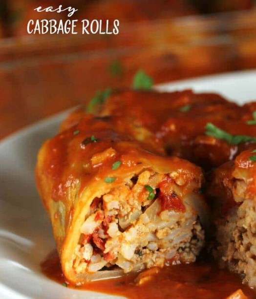 Easy Cabbage Rolls #easyrecipe #dinner