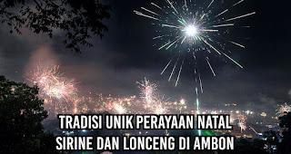 Tradisi Unik Perayaan Natal Sirine dan Lonceng di Ambon
