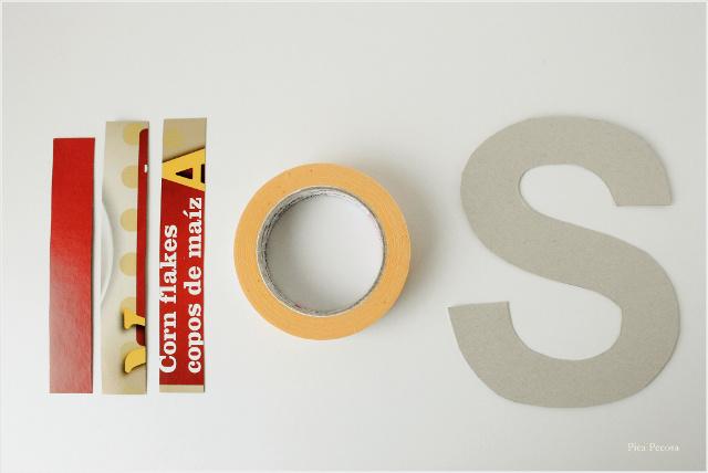 Como Hacer Letras 3d Con Una Caja De Cereales Reciclada Pica Pecosa