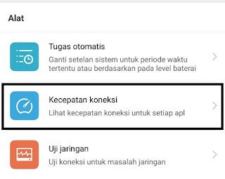 Melihat Kecepatan Koneksi Pada Xiaomi
