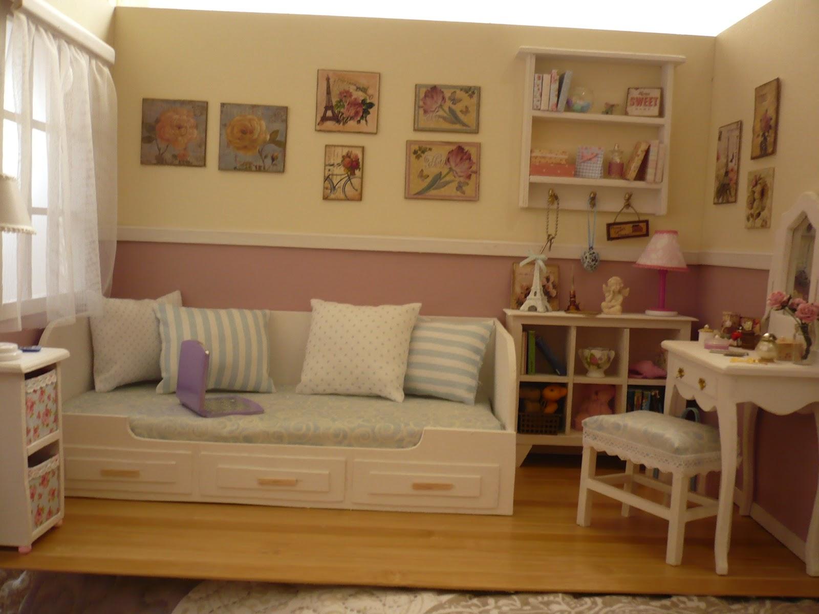 Muebles y complementos en escala 1 6 room box three walls - Muebles y complementos ...