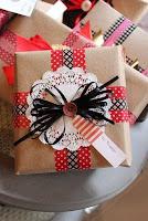 personalizzare regali di natale con i washi tape