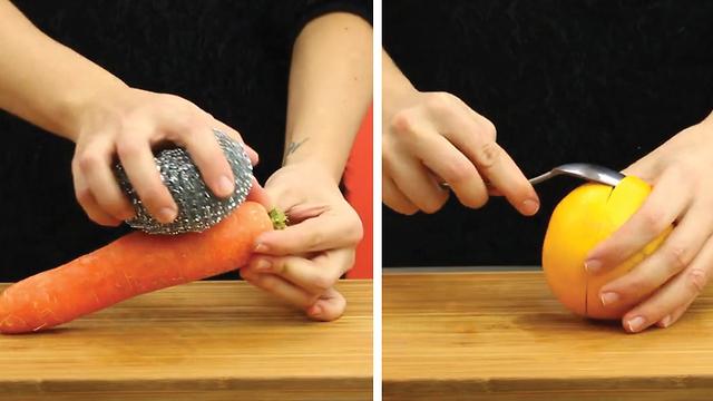 6 astuces pour éplucher la nourriture facilement