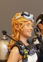 cake topper sposa sorridente bionda personalizzata appassionata sub orme magiche