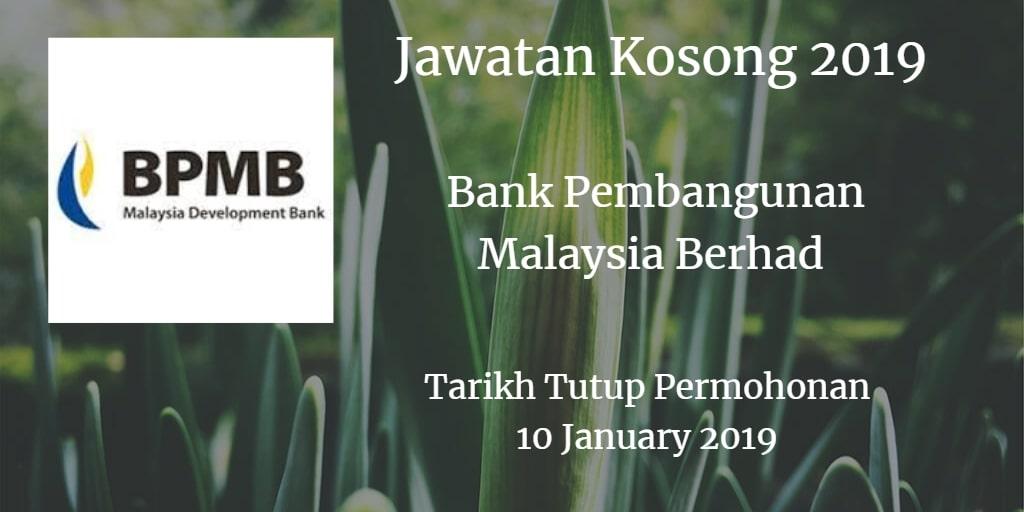 Jawatan Kosong BPMB 10 January 2019