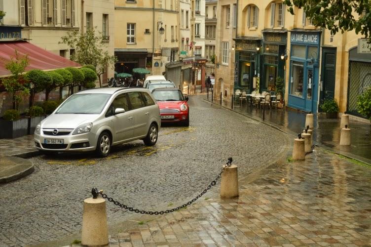 paris, rain, street