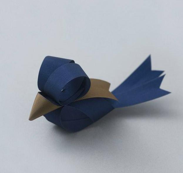blue bird bow