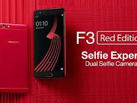 Review dan Harga Oppo F3 Red Edition Terbaru 2017