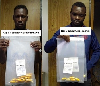 nigerian drug dealers excretes cocaine