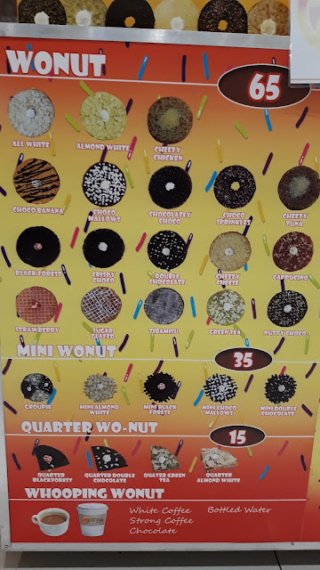 Wo-nut Menu