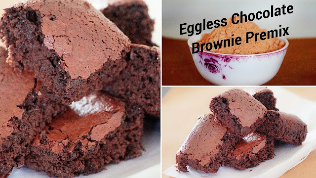 Eggless Chocolate Brownie Premix - Eggless Chocolate Brownie - Homemade Premix Recipe