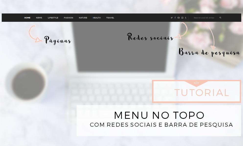 menu no topo