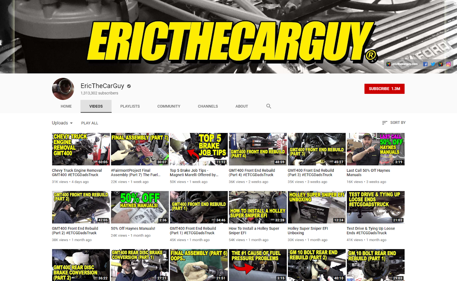 EricTheCarGuy YouTube Eric The Car Guy .com