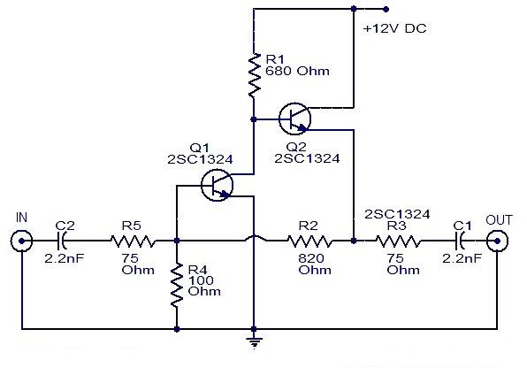 cedar creek tv wiring diagram wiring schematic diagram: cable tv amplifier with 2 ... simple tv wiring