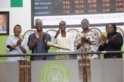 Asisat-Oshoala-rings-closing-bell-at-Nigerian-Stock-Exchange