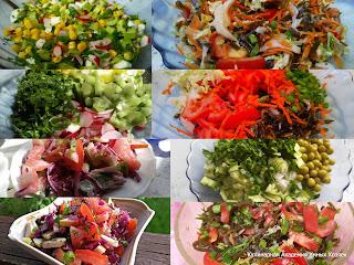 простые овощные салаты коллаж