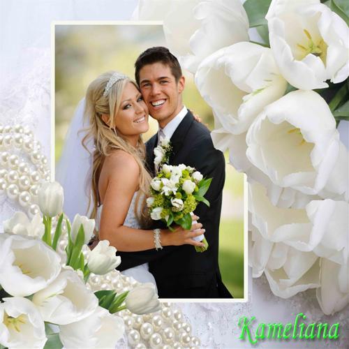 Frame Wedding Romantis